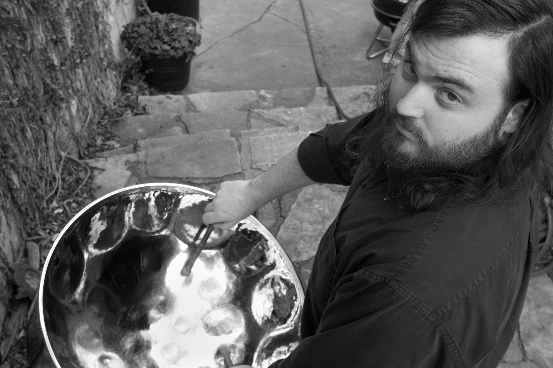 Aaron Lack on steelpan